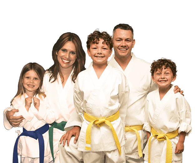 Martial Arts Lessons for Families in _Cobourg_ _ON_ - Group Family for Martial Arts Footer Banner