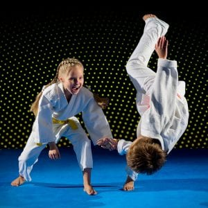 Martial Arts Lessons for Kids in _Cobourg_ _ON_ - Judo Toss Kids Girl